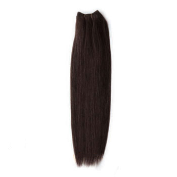 10 inches Dark Brown (#2) Straight Indian Remy Hair Wefts
