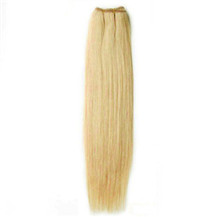 18 inches Ash Blonde (#24) Straight Indian Remy Hair Wefts