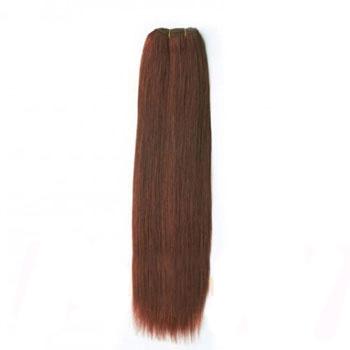 10 inches Dark Auburn (#33) Straight Indian Remy Hair Wefts