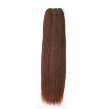 24 inches Dark Auburn (#33) Straight Indian Remy Hair Wefts
