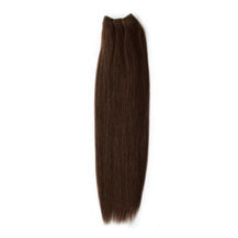 "12"" Medium Brown (#4) Straight Indian Remy Hair Wefts"