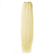 24 inches White Blonde (#60) Straight Indian Remy Hair Wefts