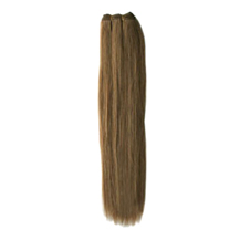 24 inches Ash Brown (#8) Straight Indian Remy Hair Wefts