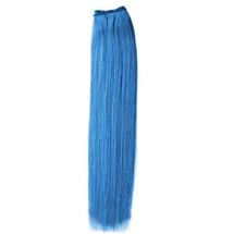 30 inches Blue Straight Indian Remy Hair Wefts
