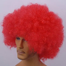 Fashionable Wig For Sports Curly Red