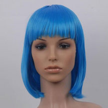 Costume Wig For Party Straight Blue