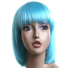 Costume Wig For Party Straight Sky Blue