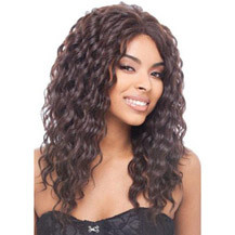 22 inches Human Hair Lace Front Wig Curly Natural Black