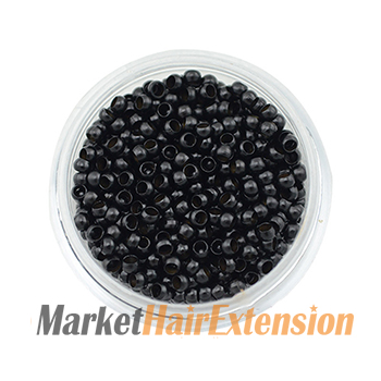 1000pcs Nano Rings / Beads Black for Hair Extensions