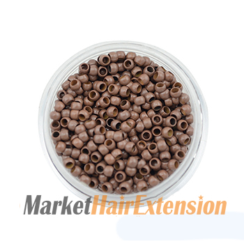 1000pcs Nano Beads Light Brown for Hair Extensions