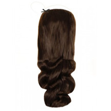 "20"" 50g Human Hair Secret Extensions Wavy Medium Brown (#4)"